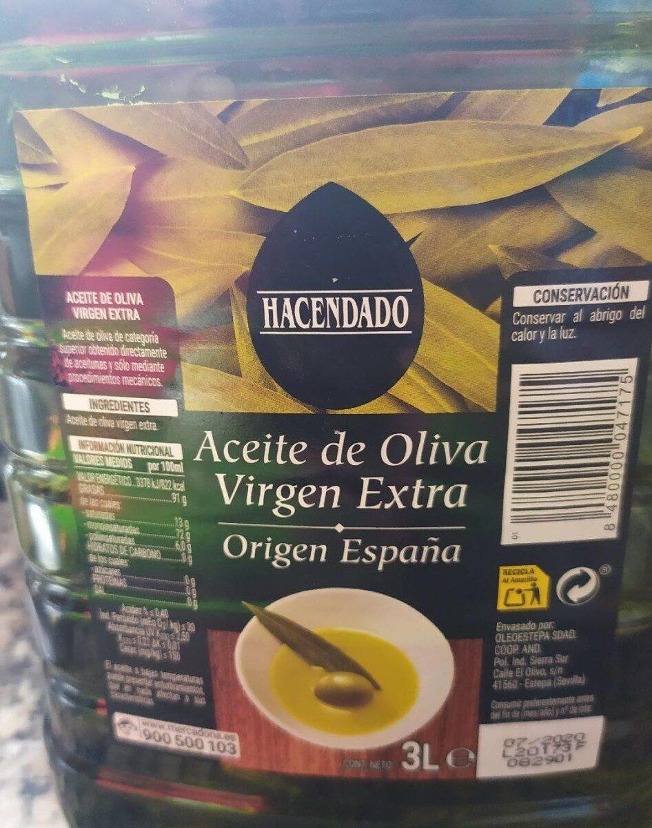 Aceite de oliva .Virgen extra - Producto - es