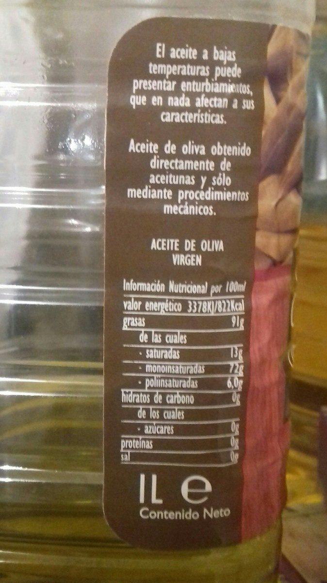 Aceite de oliva virgen - Ingredients