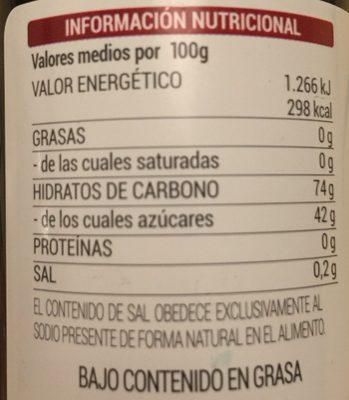 Reduccion balsamica de vinaigre - Ingredients