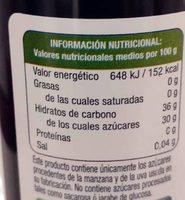 Créma de vinaigre balsamico de Mandanda Maçã - Informations nutritionnelles