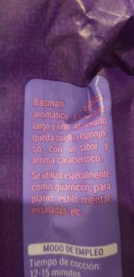 Riz Basmati - Ingredientes