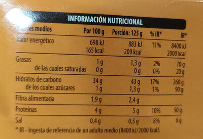 Arroz cocido redondo - Nutrition facts - es