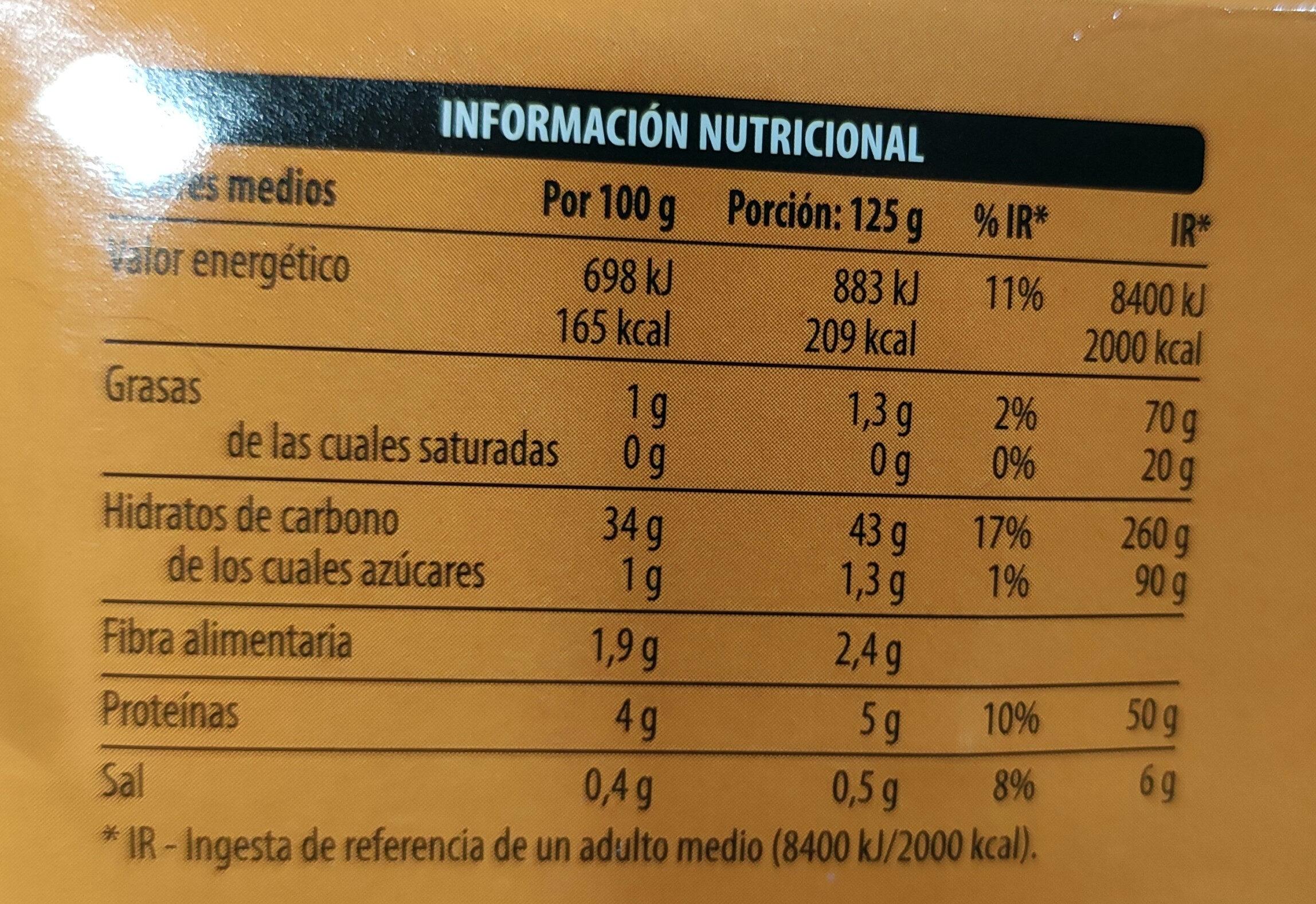 Arroz cocido - Voedingswaarden - es