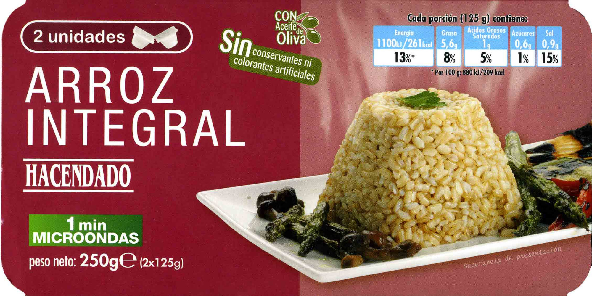 Arroz cocido integral - Producte