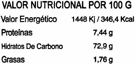 Mezcla de arroces Especial ensaladas y guarnición - Informació nutricional