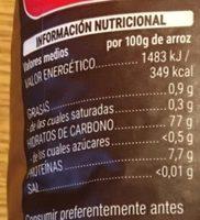Arroz bomba - Informations nutritionnelles