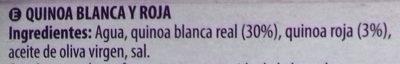 Quinoa Blanca y Roja - Ingredients