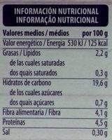 Quinoa Blanca y Roja - Informació nutricional