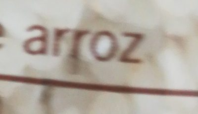 Arroz redondo - Ingredientes