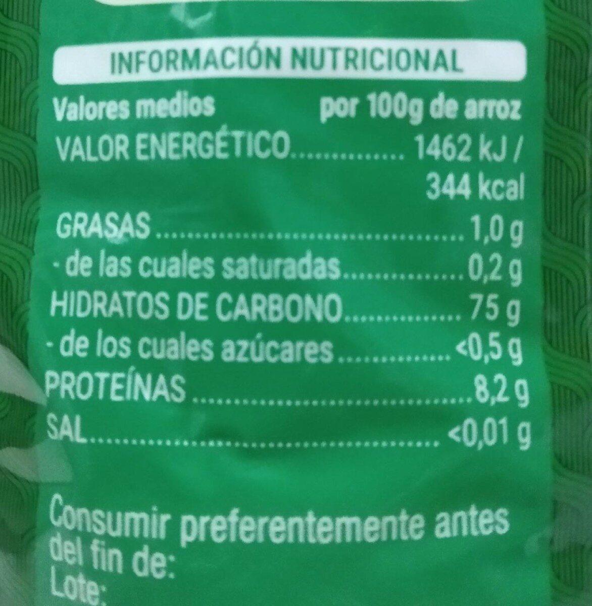 Arroz redondo - Informations nutritionnelles - fr