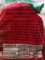 Alubia negra - Ingredientes