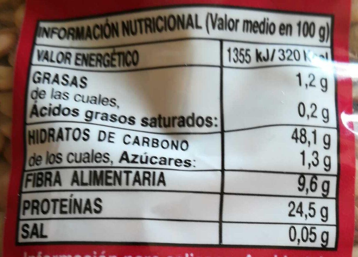 Lenteja rápida - Información nutricional - es