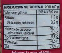 Lenteja Rapida - Informations nutritionnelles - es