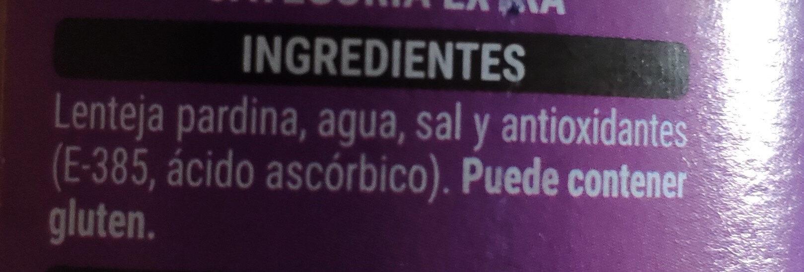 Lenteja pardina - Ingredientes - es