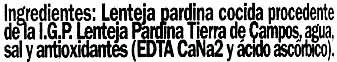 Lenteja pardina de Tierra de Campos - Ingredientes - es