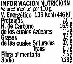 Lentejas Pardina de Tierra de Campos - Nutrition facts