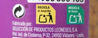Lenteja pardina - Instrucciones de reciclaje y/o información de embalaje - es