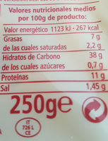 Tortelloni carne - Informació nutricional