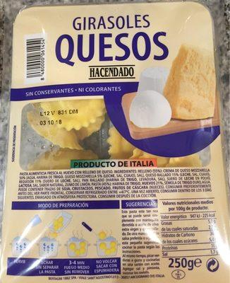 Pasta alimenticia fresca al huevo rellena de quesos - Produit - fr