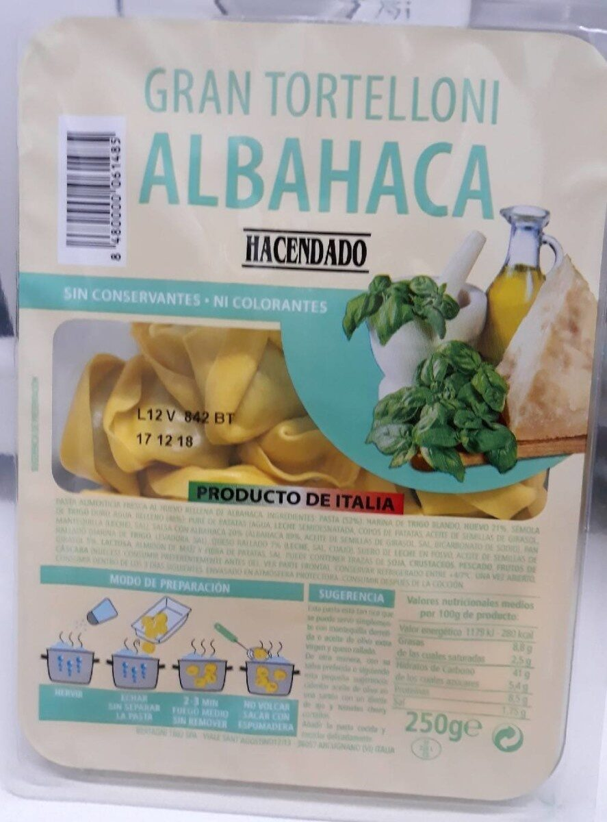 Gran tortelloni albahaca - Producto - es