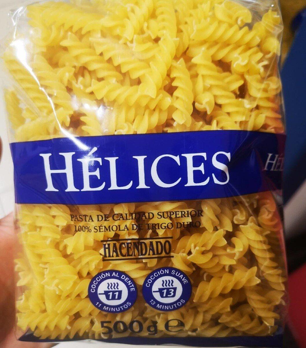 Hélices. Pasta Alimenticia De Calidad Superior - Producto - es