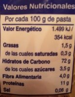 Macarrón - Nutrition facts