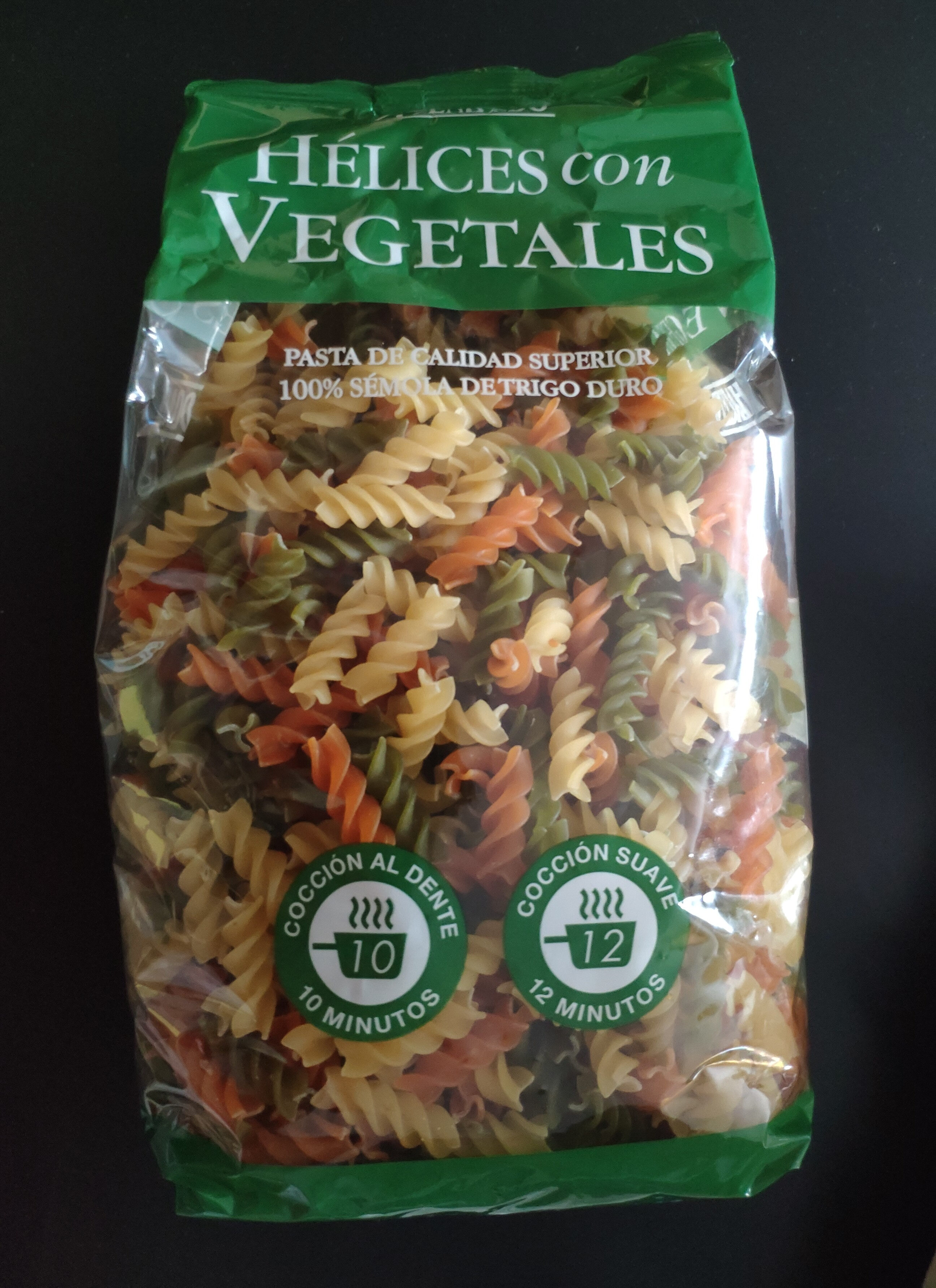 Hélices con vegetales - Producto - es