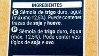 Cannelloni tubos precocidos - Ingrédients - es