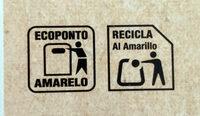 Cannelloni tubos precocidos - Instruction de recyclage et/ou information d'emballage - es