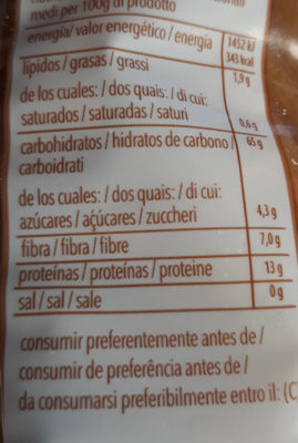macarrones - Nutrition facts