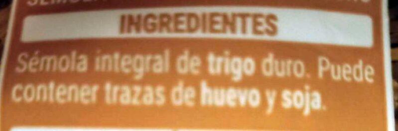 Fideo integral - Ingredienti - es