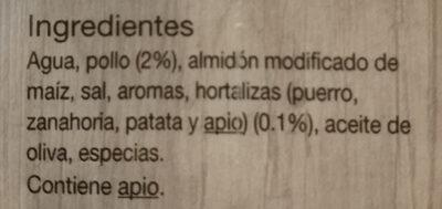 Caldo de pollo - Ingredientes