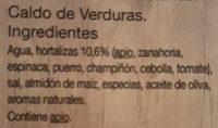 Caldo de verduras - Ingredients