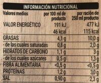 Caldo para paella de carne - Información nutricional