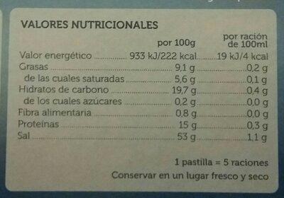 Caldo de pescado - Informations nutritionnelles - de