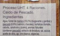 Caldo de pescado - Ingredients - es