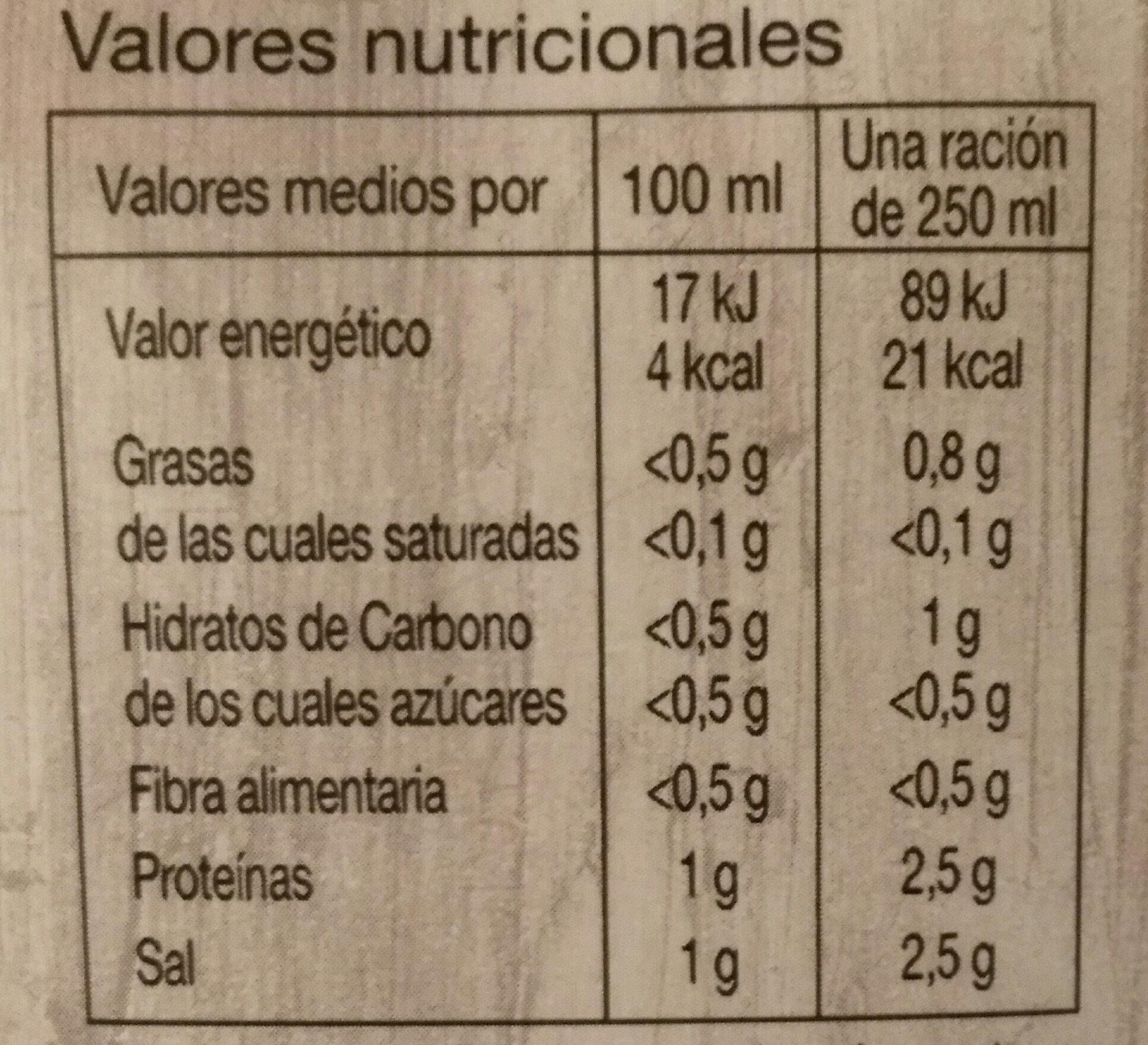 Caldo de pescado - Nutrition facts - es