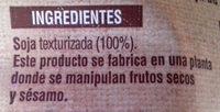 Soja texturizada - Ingredientes