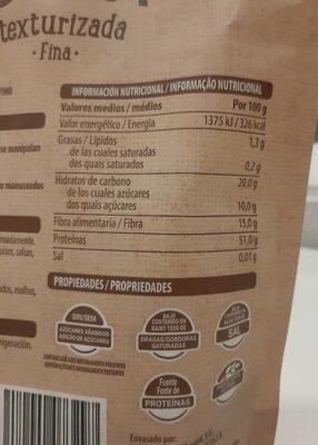 Soja texturizada fina - Informació nutricional - es