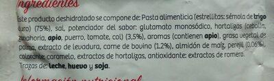 Sopa Carne con Estrellitas - Ingredientes