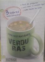 Sopa instantánea verduras - Producto