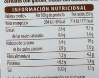 Crema de calabaza y zanahoria - Informations nutritionnelles - es