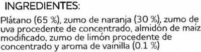 Plátano y naranja a la vainilla - Ingrediënten - es