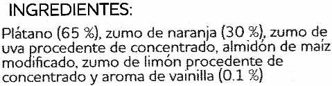 Plátano y naranja a la vainilla - Ingredients - es