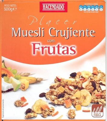 """Muesli """"Hacendado"""" Crujiente con frutas - Product"""