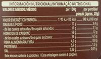 Barritas de cereales con chocolate con leche - Informació nutricional - es
