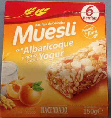 Barritas de muesli con albaricoque y yogur - Product