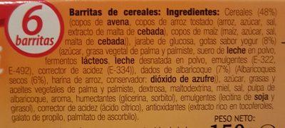 Barre muesli abricot & yaourt - Ingrédients - fr