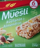 Barritas de cereales muesli con avellanas y almendras - Producte - en
