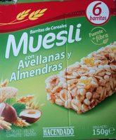 Barritas de cereales muesli con avellanas y almendras - Product